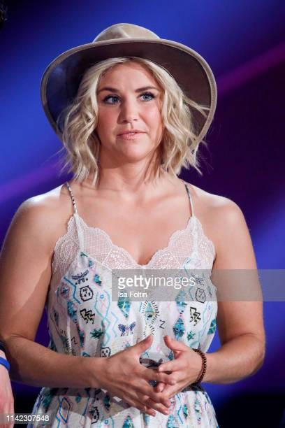 Swiss singer Beatrice Egli during the tv show Stefanie Hertel Die grosse Show zum Muttertag on May 8 2019 in Altenberg Germany