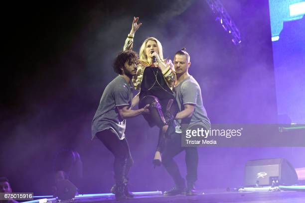 Swiss singer Beatrice Egli performs during 'Die Schlagernacht des Jahres' at Lanxess Arena on April 29 2017 in Cologne Germany