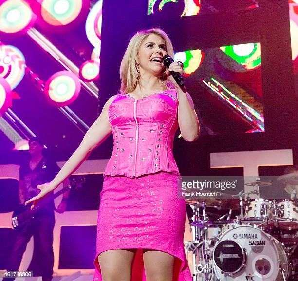 Swiss singer Beatrice Egli performs live during a concert at the Tempodrom on January 17 2015 in Berlin Germany