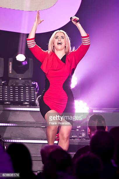 Swiss singer Beatrice Egli performs live during a concert at the Tempodrom on December 7 2016 in Berlin Germany