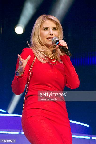 Swiss singer Beatrice Egli performs live during the 'Schlagernacht des Jahres' at the O2 World on November 22 2014 in Berlin Germany