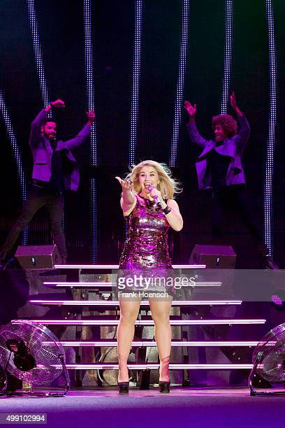 Swiss singer Beatrice Egli performs live during the Schlagernacht des Jahres at the MercedesBenz Arena on November 21 2015 in Berlin Germany