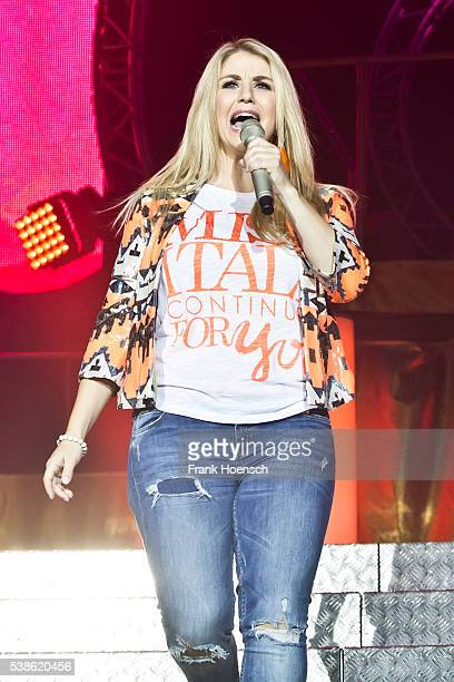 Swiss singer Beatrice Egli performs live during the Schlagernacht des Jahres at the Waldbuehne on June 4 2016 in Berlin Germany