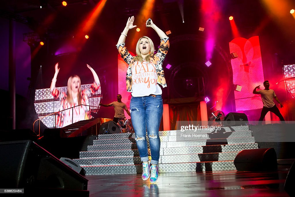 Swiss singer Beatrice Egli performs live during the Schlagernacht des Jahres at the Waldbuehne on June 4, 2016 in Berlin, Germany.