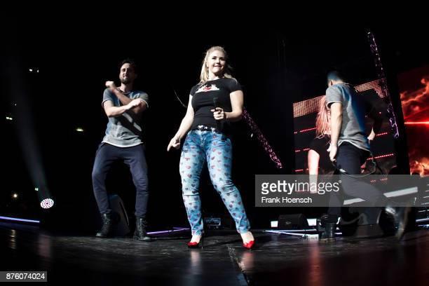Swiss singer Beatrice Egli performs live during the show 'Die Schlagernacht des Jahres' at the MercedesBenz Arena on November 18 2017 in Berlin...