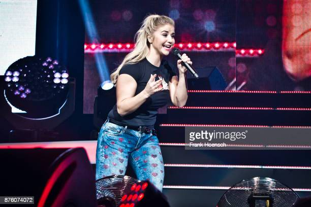 Swiss singer Beatrice Egli performs live during the show 'Die Schlagernacht des Jahres' at the MercedesBenz Arena on November 18 2017 in Berlin...