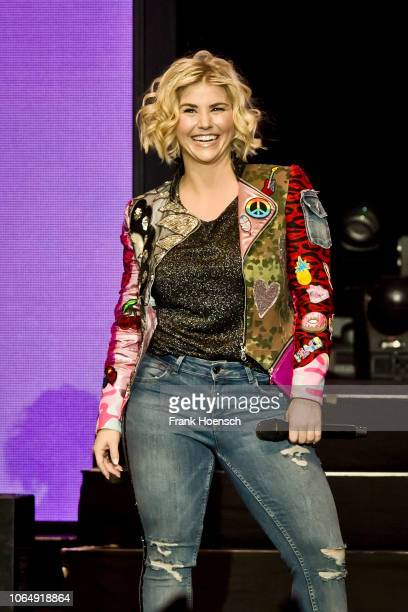 Swiss singer Beatrice Egli performs live on stage during a concert at the Tempodrom on November 24 2018 in Berlin Germany