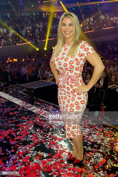 Swiss singer Beatrice Egli performs the 'Schlagerboom Das Internationale Schlagerfest' at Westfalenhalle on October 21 2017 in Dortmund Germany