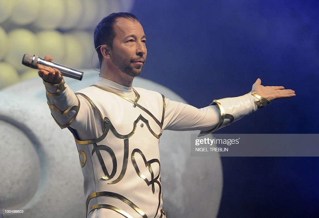 Swiss singer, dancer and music producer DJ BoBo performs on stage during a concert on May 24, 2010 in Bremen, northern Germany. DJ BoBo actually tours Germany with his 'Fantasy Tour'.