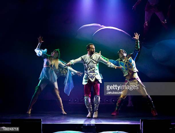 Swiss singer DJ Bobo performs live during a concert at the MaxSchmelingHalle on April 22 2010 in Berlin Germany The concert is part of the DJ Bobo...
