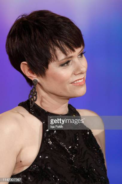 Swiss singer Francine Jordi during the tv show Stefanie Hertel Die grosse Show zum Muttertag on May 8 2019 in Altenberg Germany