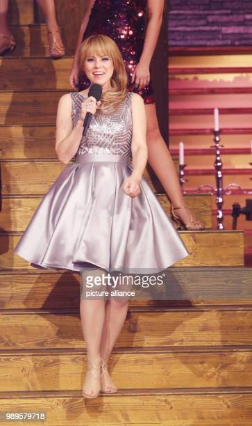 Swiss singer Francine Jordi performing at the final rehersal for the Silvestershow in GrazAustria 30 December 2017 The programme will be broadcast...