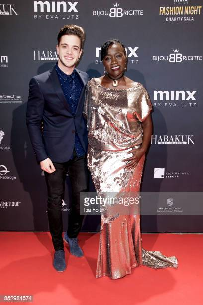 Swiss singer Luca Haenni and Auma Obama halfsister of former US president Barack Obama during the Minx Fashion Night in favour of 'Sauti Kuu' of Auma...