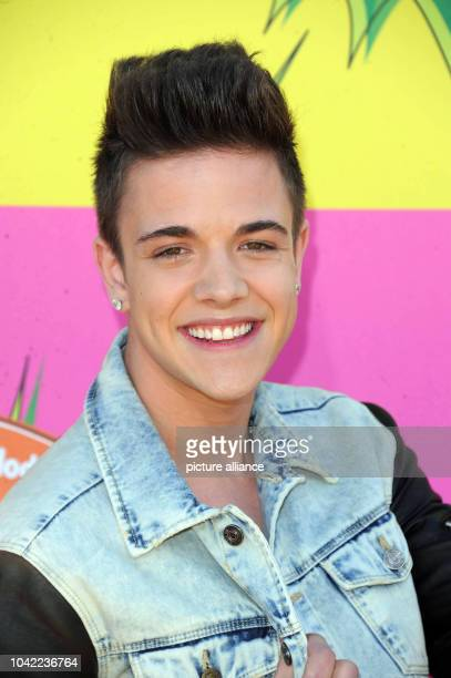 Swiss singer Luca Haenni arrives at Nickelodeon's 26th Annual Kids' Choice Awards at USC Galen Center in Los Angeles USA on 23 March 2013 Photo...