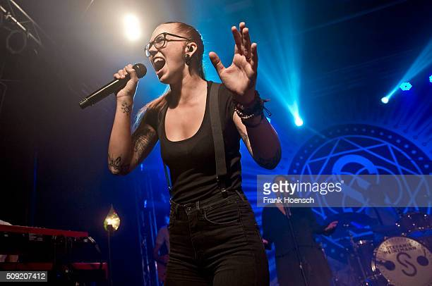 Swiss singer Stefanie Heinzmann performs live during a concert at the Postbahnhof on February 6 2016 in Berlin Germany