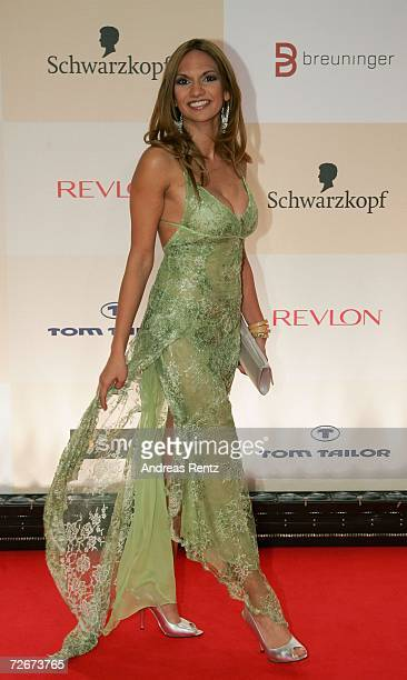 Swiss television hostess Anna Maier attends the Tribute to Bambi charity gala traditionally held a night before the annual Bambi Awards on November...