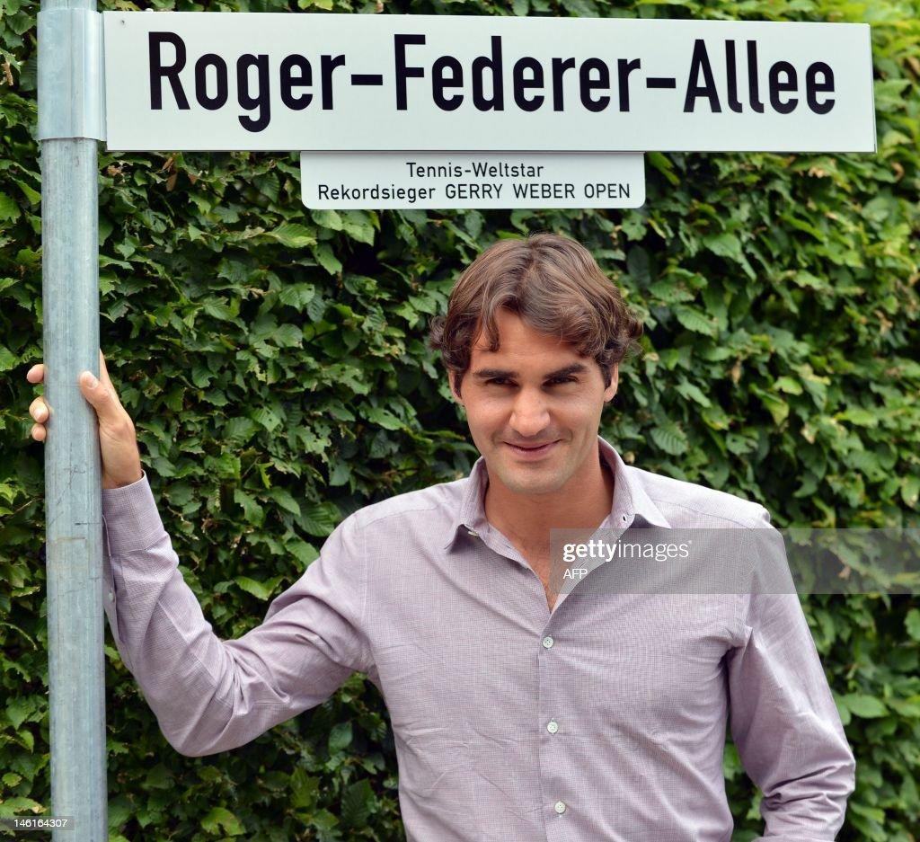 TENNIS-ATP-GER-FEDERER : News Photo