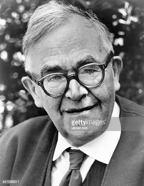 KARL BARTH Swiss theologian Photographed 1957