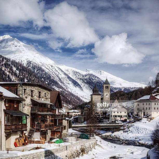 Swiss Village in the Alps
