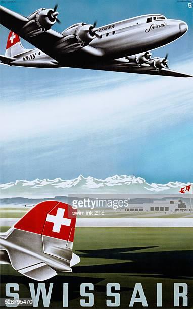 Swissair Travel Poster