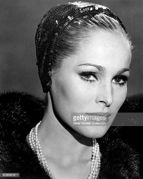 SwissAmerican actress Ursula Andress in a promotional portrait for 'Anyone Can Play' directed by Luigi Zampa 1968