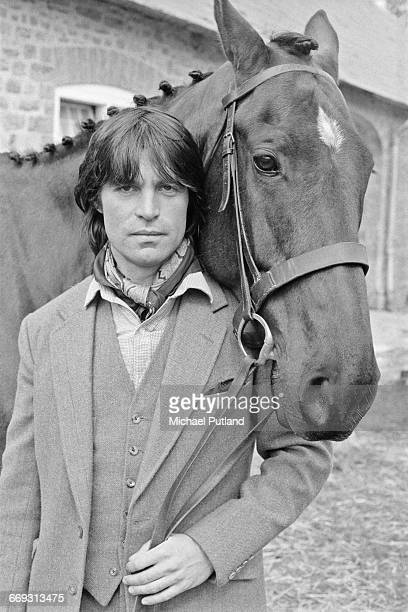 Swissborn actor Oliver Tobias holding the reins of a horse 13th April 1982