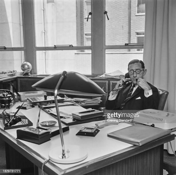 Swiss-British architect Richard Seifert , UK, 22nd June 1965.