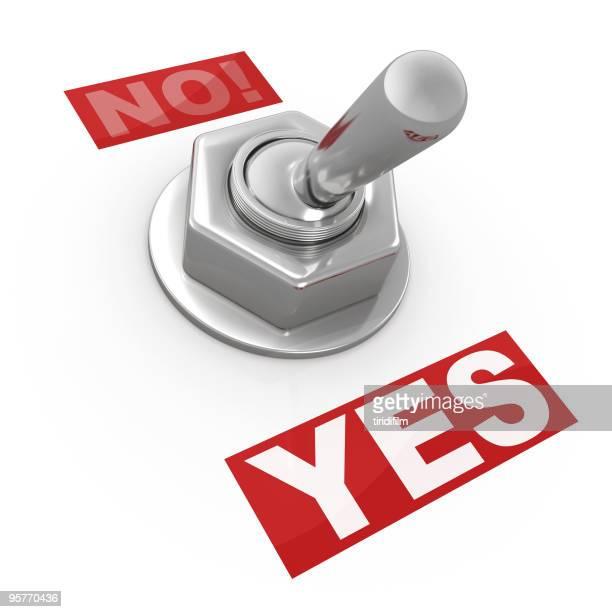 スイッチボタン-「はい」または「いいえ」です。