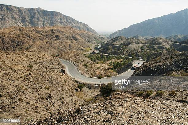 SwitchBack Curve On The Road In The Khyber Pass Federally Administered Tribal Areas Pakistan