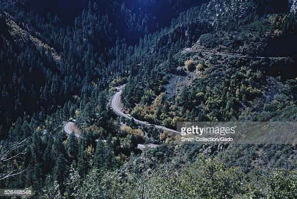 Switchbacks Oak Creek Canyon Arizona 1974