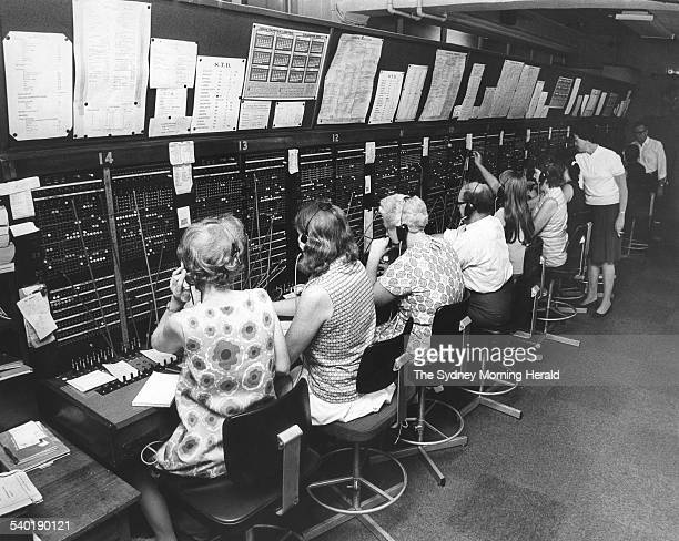 Switchboard operators at the Sydney Morning Herald's offices in Jones Street Sydney handle 46 million incoming calls a year and nearly two million...