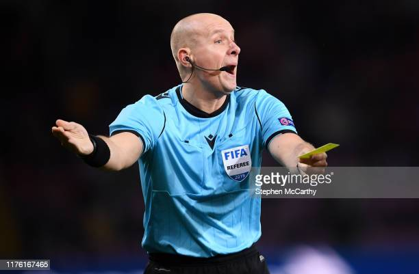 Switzerland - 15 October 2019; Referee Szymon Marciniak during the UEFA EURO 2020 Qualifier match between Switzerland and Republic of Ireland at...