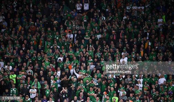 Switzerland - 15 October 2019; Republic of Ireland supporters during the UEFA EURO 2020 Qualifier match between Switzerland and Republic of Ireland...