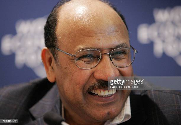 Abdallah S Jum'ah President and CEO of Saudi Aramco smiles while attending the session China and India's Rising Demand for Natural Ressources at the...