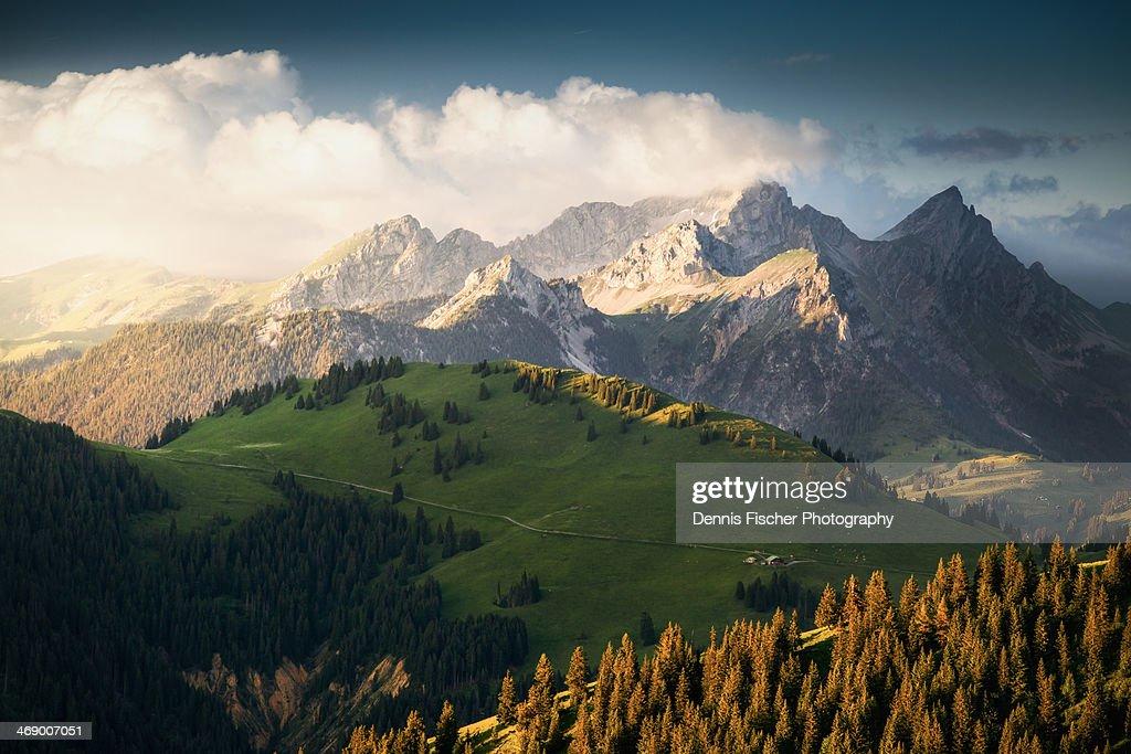 Switzerland Alps sunset : Foto de stock