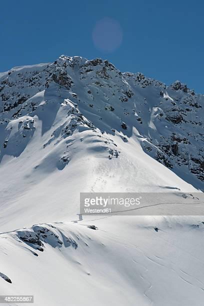 switzerland, arosa, snowcapped mountain - アロサ ストックフォトと画像