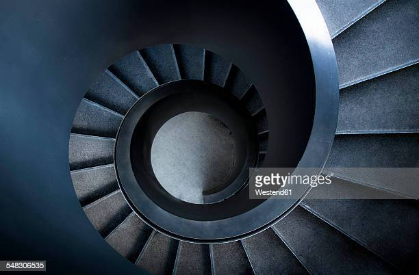 switzerland, basel, vogesenplatz, spiral stairs, elevated view - architektonisches detail stock-fotos und bilder