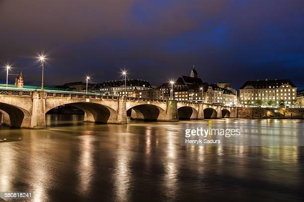 Switzerland, Basel-Stadt, Basel, Mittlere Bridge
