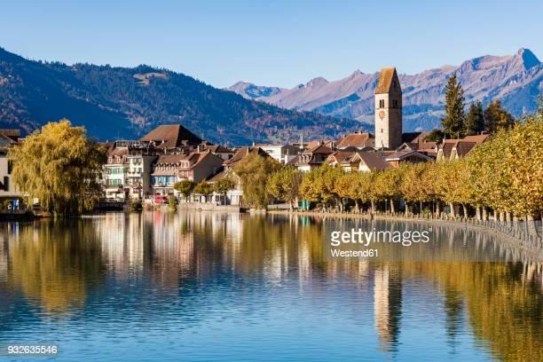 Switzerland, Bern, Bernese Oberland, Interlaken, Old town, Aare river
