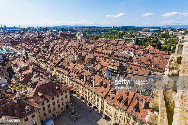 Switzerland, Bern, old town, cityscape from minster