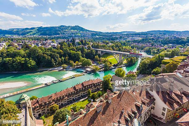 Switzerland, Bern, old town, cityscape with River Aare