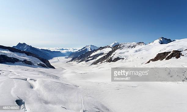 Switzerland, Bernese Oberland, Aletsch Glacier and Jungfraujoch