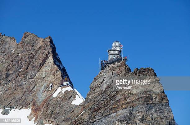 Switzerland, Bernese Oberland, Aletsch Glacier, View of Jungfrau mountain