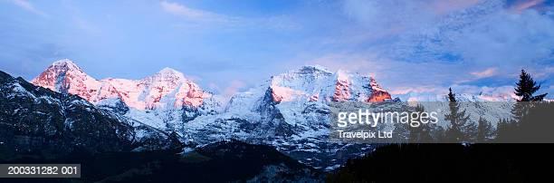 Switzerland, Bernese Oberland, Eiger, Monch and Jungfrau alps