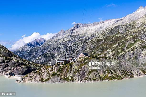Switzerland, Bernese Oberland, Grimsel Hospiz at Lake Grimsel