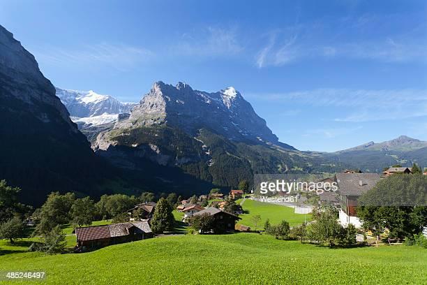Switzerland, Bernese Oberland, Grindelwald with Eiger mountain