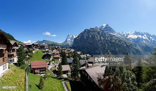 Switzerland, Bernese Oberland, Murren, View towards Eiger mountain