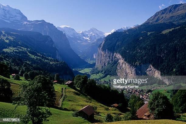 Switzerland Bernese Oberland View Of Lauterbrunnen
