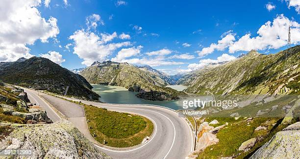 Switzerland, Bernese Oberland, view to Grimsel Pass and Lake Grimsel