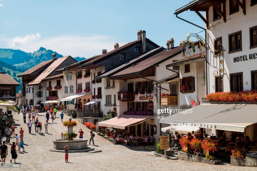 Switzerland. Canton Fribourg. Gruyeres. Old Town. News Photo | Getty ...